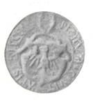 Pieczęć miasta Kłecka z 1576 r., w otoku napis SIGILVM x CIVITATIS x KLECEN. Za Pieczęci Miast Dawnej Polski, Kraków - Warszawa 1915.