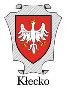 Herb miasta kłecka umieszczony na mapie powiatu gnieźnieńskiego I połowa XX wieku (opracowanie własne)